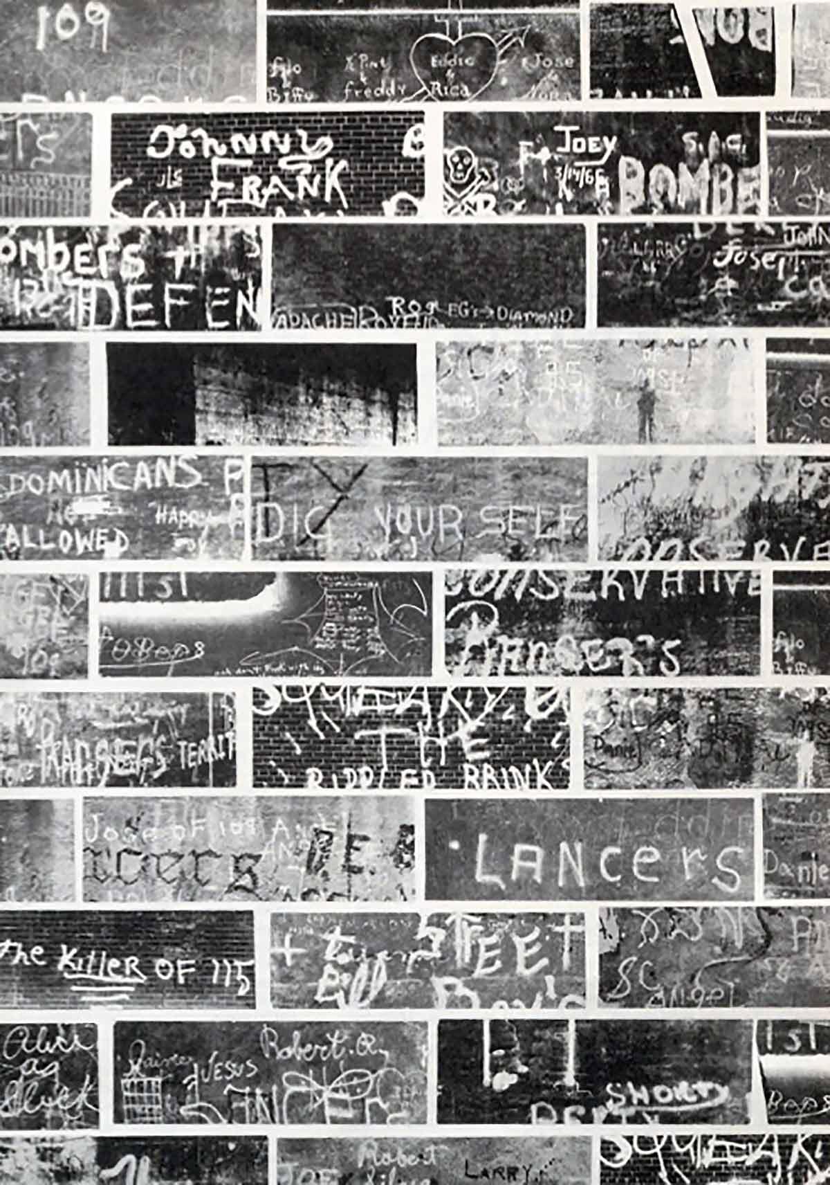 Photos de tags par James Hinton, publiées dans l'étude de Kohl en 1967