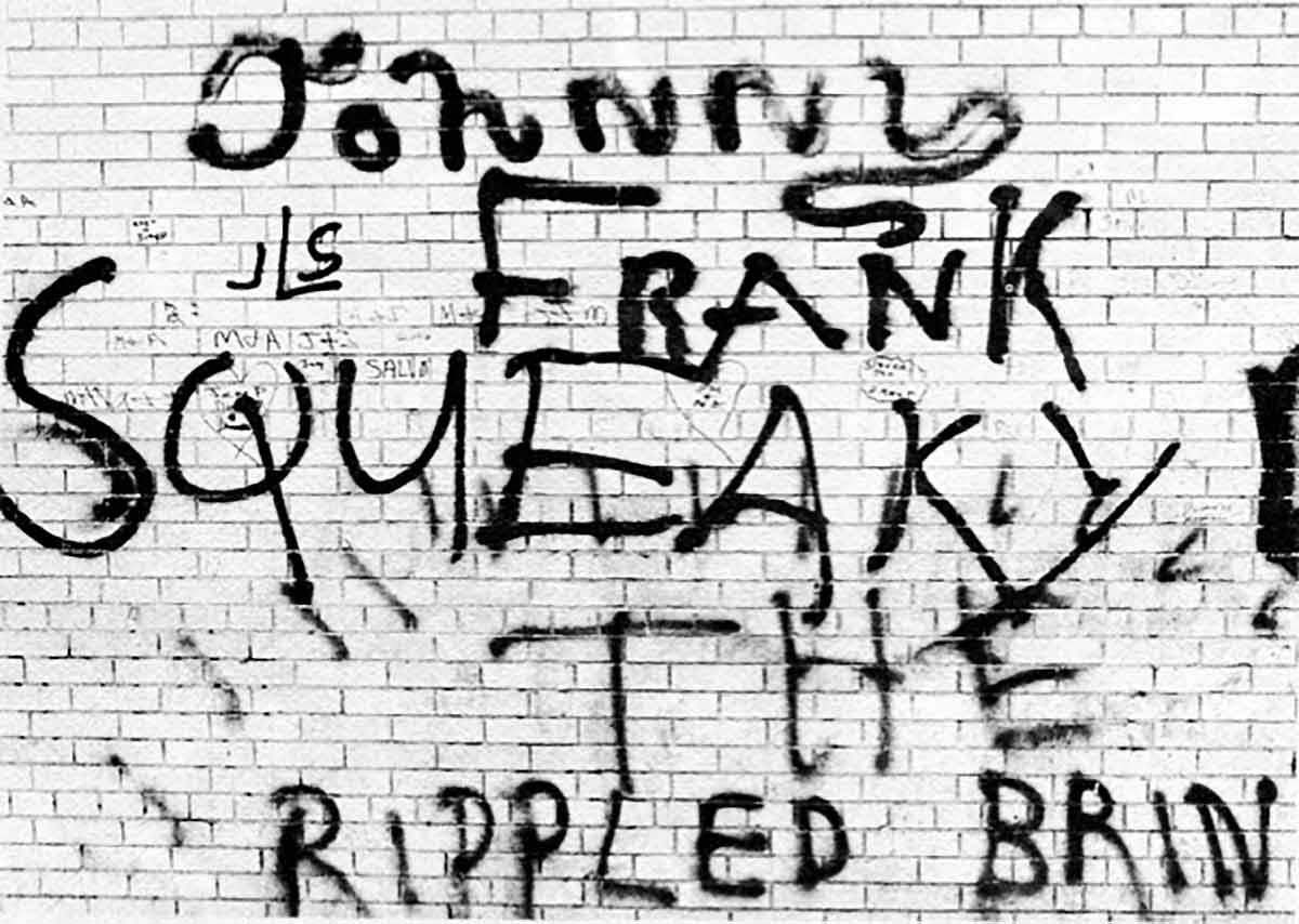 Tags stylisés à Spanish Harlem publiés dans l'étude de Herbert Kohl, 1967