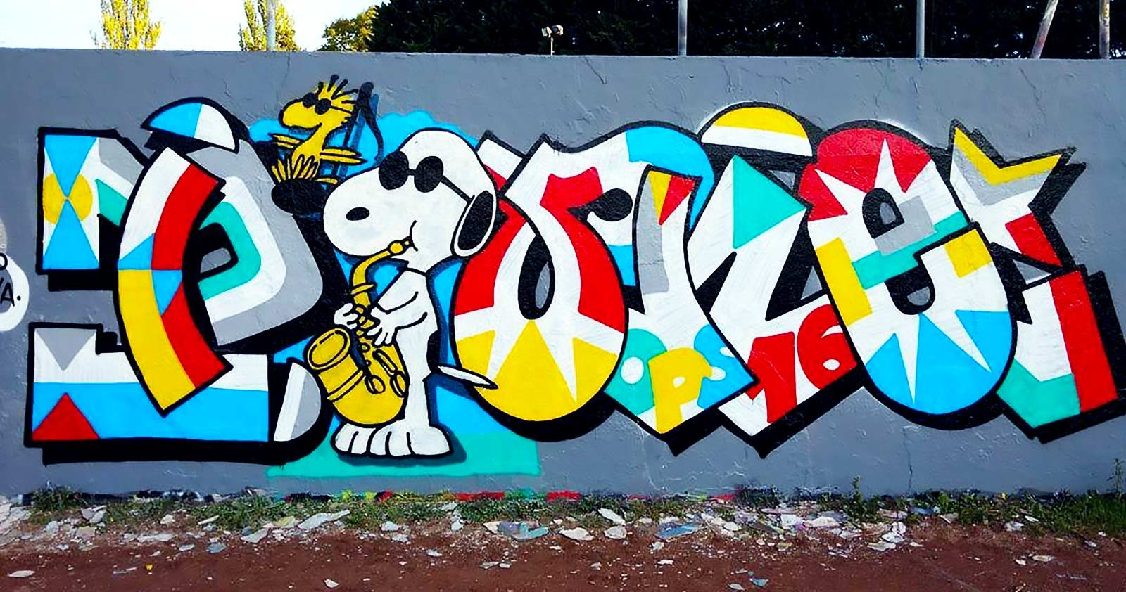 Quand Snoopy et son gang se mettent au graffiti