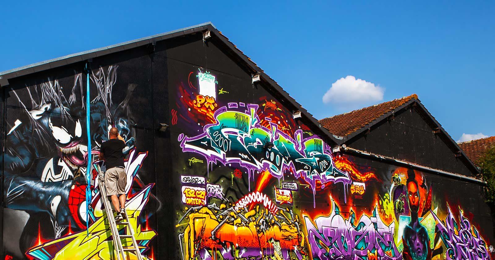 Graffiti et coups de soleil pour le Before Breton