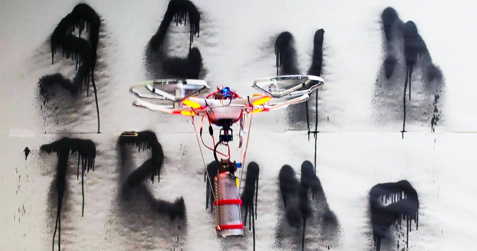 Peindre au drone... la fin du Graffiti, ou les prémices d'une nouvelle ère?