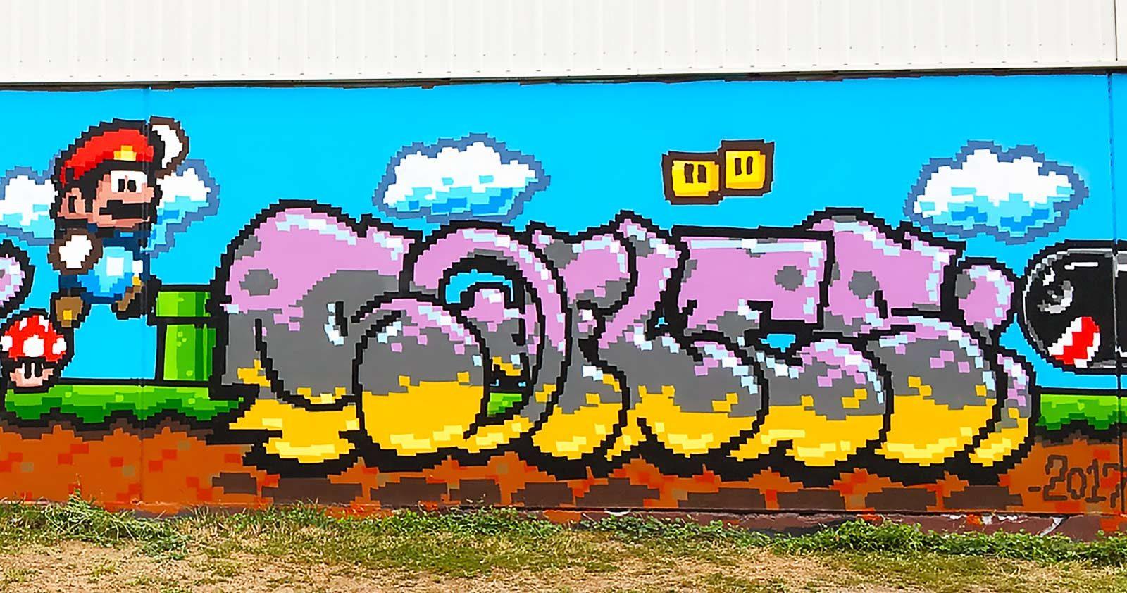 Retrogaming: Le Graffiti passe en mode 8-bits